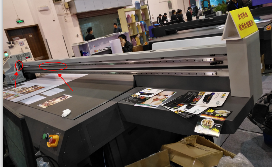 磁栅尺安装在喷绘机上